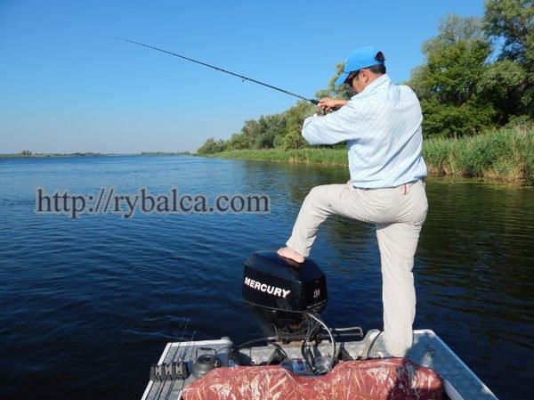 ловля твичингом с лодки