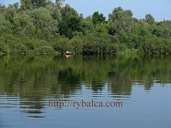рыбак на реке в лодке