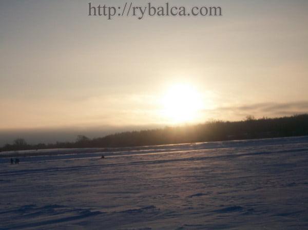 Река Ока зима